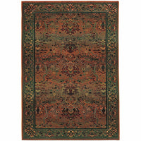 Kharma Green Beige Oriental Persian Traditional Rug - Free Shipping