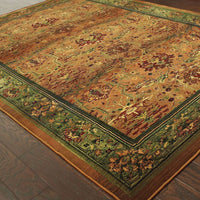 Woven - Kharma Green Beige Oriental Persian Traditional Rug
