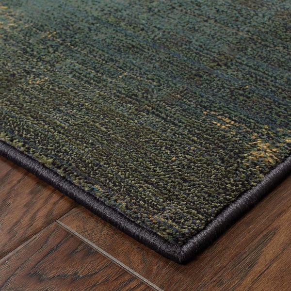 Woven - Kharma II Blue Green Geometric Patchwork Contemporary Rug