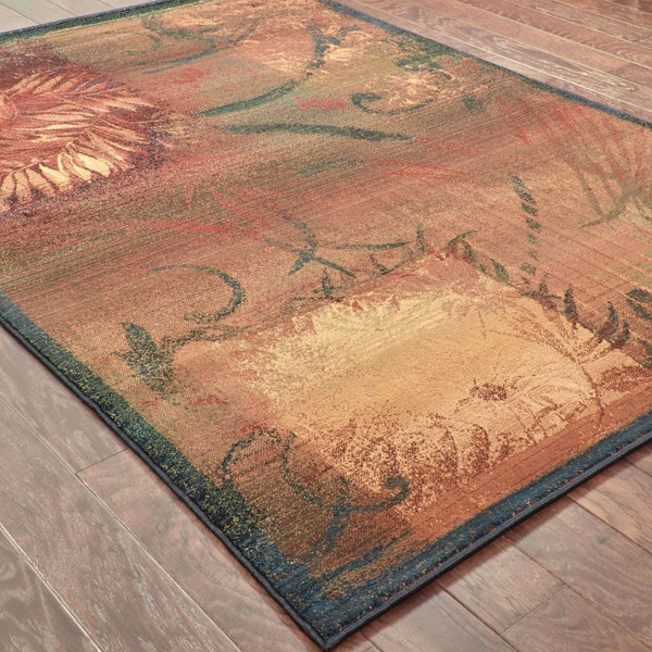 Woven - Kharma II Brown Gold Abstract  Transitional Rug