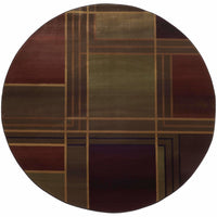 Woven - Kharma II Green Purple Geometric  Contemporary Rug