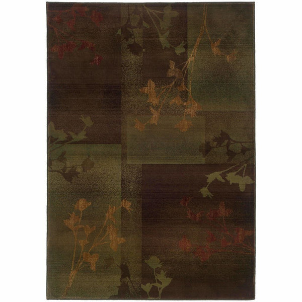 Kharma II Purple Green Floral  Transitional Rug - Free Shipping