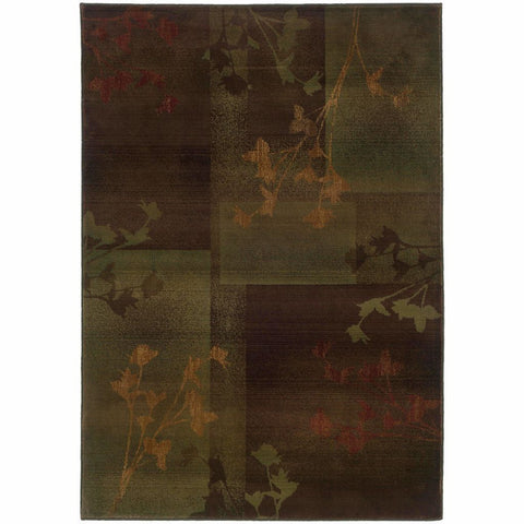 Oriental Weavers Kharma II Purple Green Floral  Transitional Rug