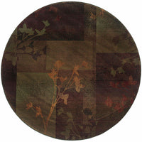 Woven - Kharma II Purple Green Floral  Transitional Rug