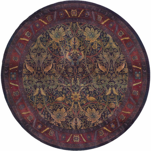Woven - Kharma Red Blue Floral  Traditional Rug