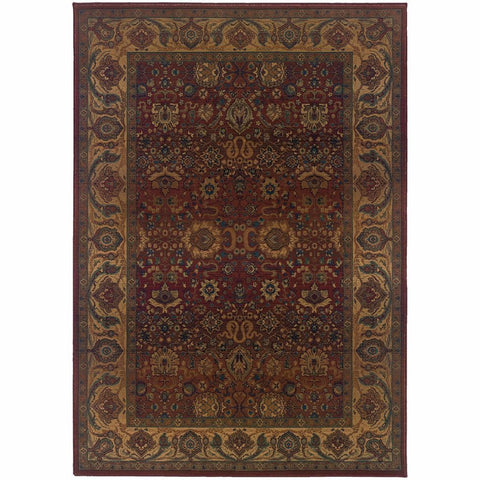 Oriental Weavers Kharma Red Gold Oriental Persian Traditional Rug