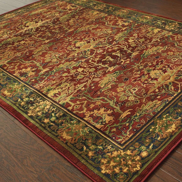 Woven - Kharma Red Green Oriental Persian Traditional Rug