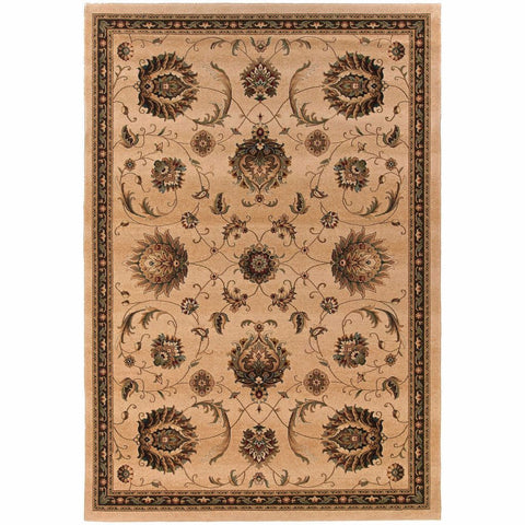 Oriental Weavers Knightsbridge Beige Brown Floral  Traditional Rug