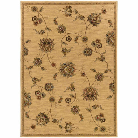 Oriental Weavers Knightsbridge Beige Gold Floral  Transitional Rug