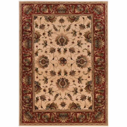 Oriental Weavers Knightsbridge Beige Red Oriental Persian Traditional Rug
