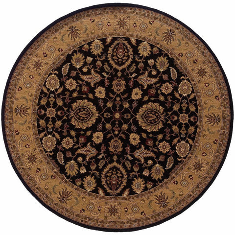 Oriental Weavers Knightsbridge Black Beige Oriental Persian Traditional Rug