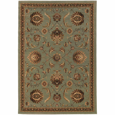 Oriental Weavers Knightsbridge Blue Beige Floral  Traditional Rug