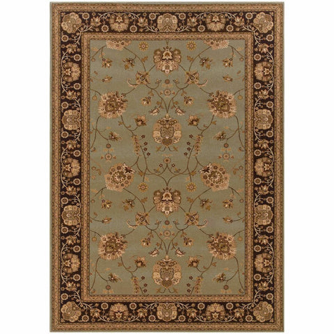 Oriental Weavers Knightsbridge Blue Brown Oriental Persian Traditional Rug