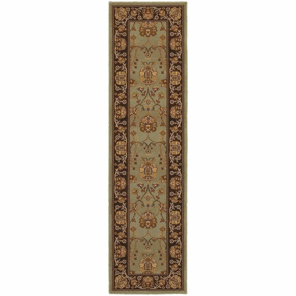 Woven - Knightsbridge Blue Brown Oriental Persian Traditional Rug
