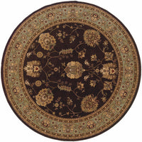 Woven - Knightsbridge Brown Blue Oriental Persian Traditional Rug