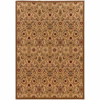 Oriental Weavers Knightsbridge Gold Brown Floral  Transitional Rug