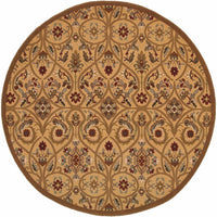 Woven - Knightsbridge Gold Brown Floral  Transitional Rug