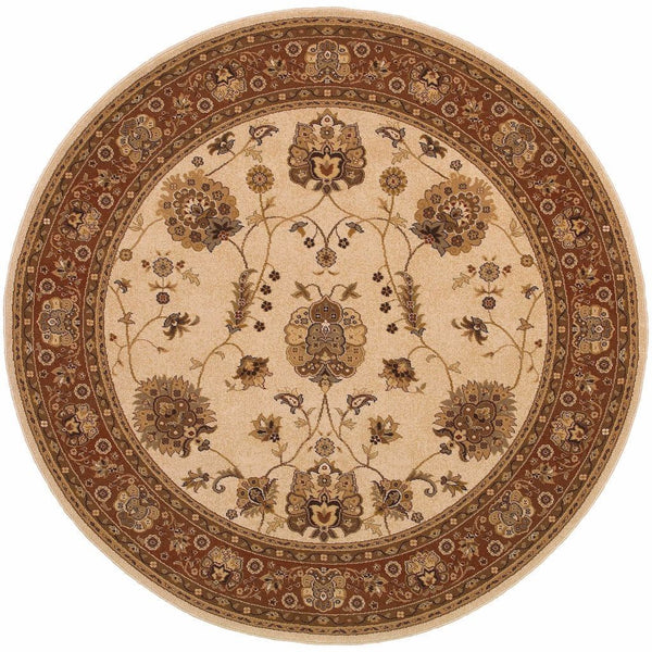 Woven - Knightsbridge Ivory Red Oriental Persian Traditional Rug