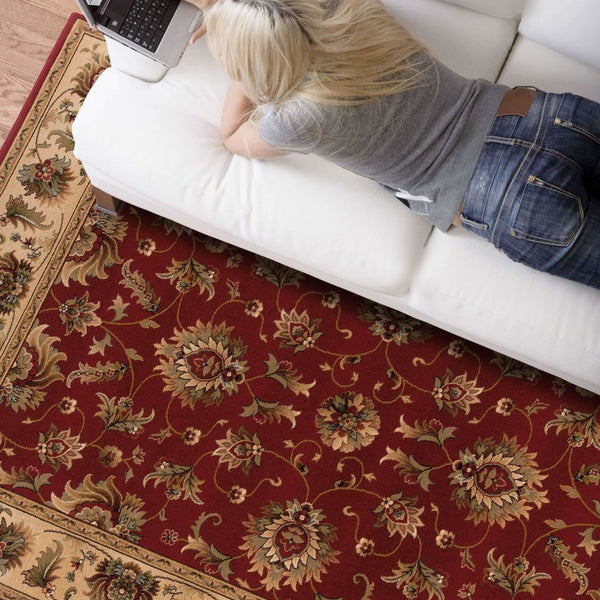 Woven - Knightsbridge Red Beige Oriental Persian Traditional Rug