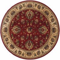 Knightsbridge Red Beige Oriental Persian Traditional Rug - Free Shipping