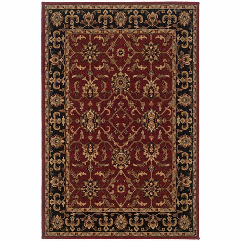 Oriental Weavers Knightsbridge Red Black Oriental Persian Traditional Rug