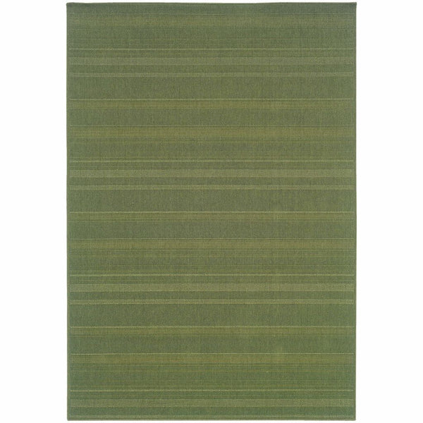 Lanai Green  Solid  Outdoor Rug