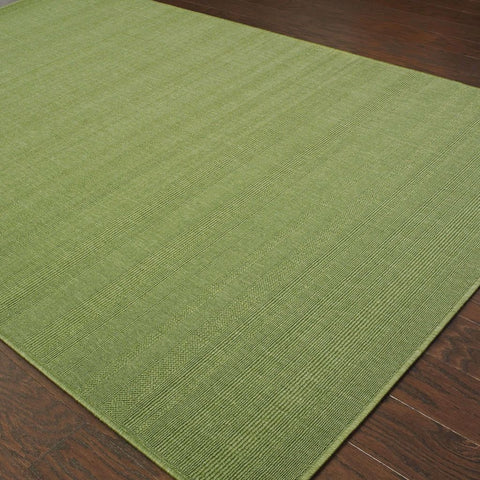 Oriental Weavers Lanai Green  Solid  Outdoor Rug