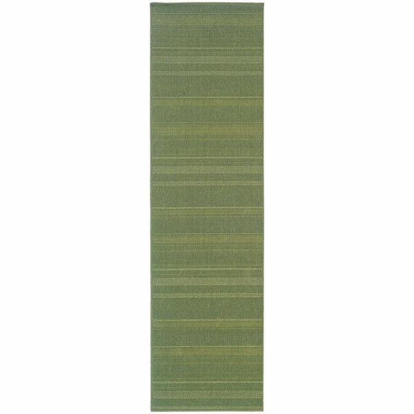 Lanai Green  Solid  Outdoor Rug - Free Shipping