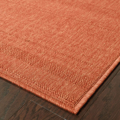 Oriental Weavers Lanai Red  Solid  Outdoor Rug