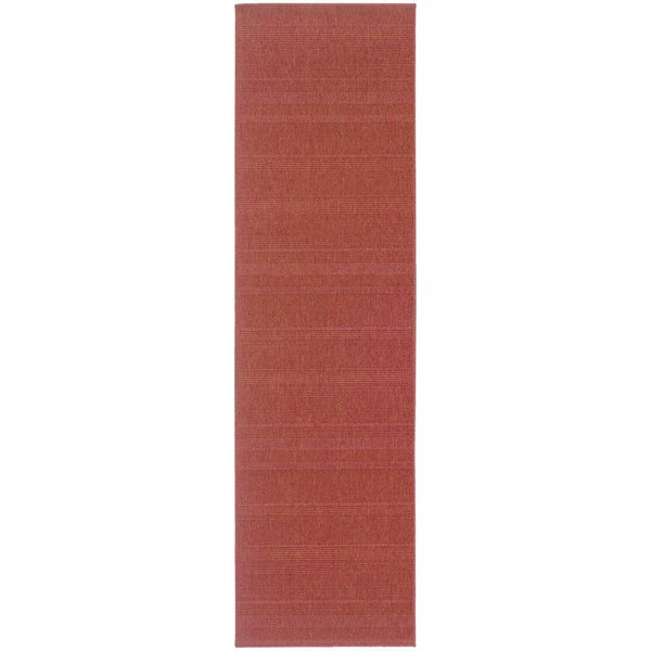 Lanai Red  Solid  Outdoor Rug - Free Shipping