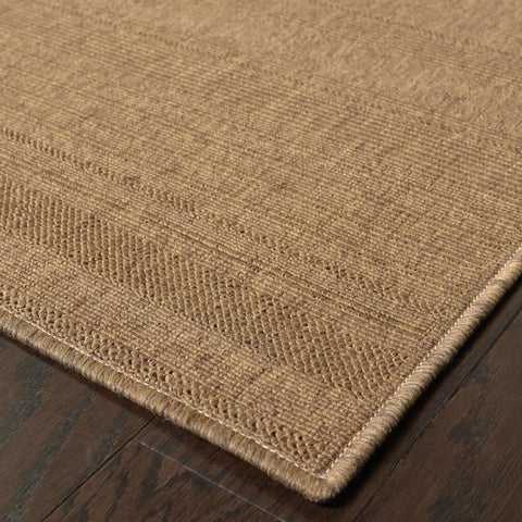 Oriental Weavers Lanai Tan  Solid  Outdoor Rug