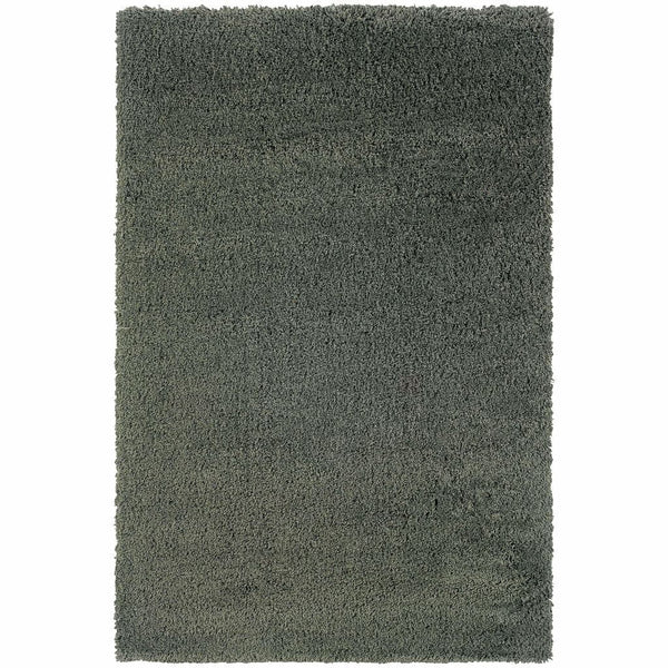 Loft Blue  Solid  Contemporary Rug - Free Shipping