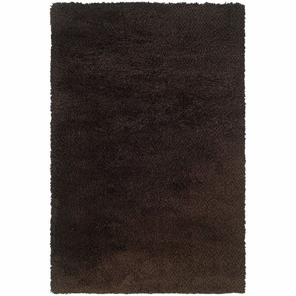 Loft Brown Black Tweed  Contemporary Rug - Free Shipping