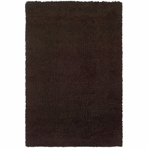Loft Brown  Solid  Contemporary Rug - Free Shipping