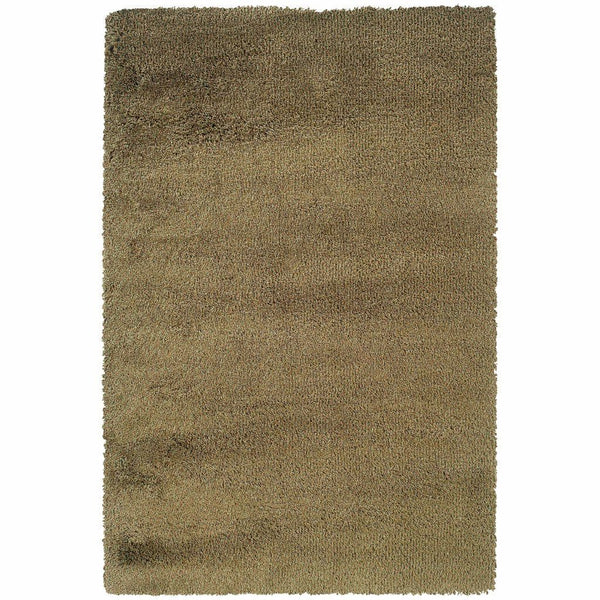 Loft Green Gold Tweed  Contemporary Rug - Free Shipping