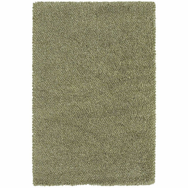 Loft Green Ivory Tweed  Contemporary Rug - Free Shipping