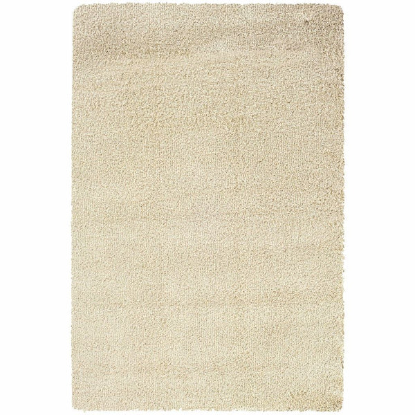 Loft Ivory  Solid  Contemporary Rug - Free Shipping