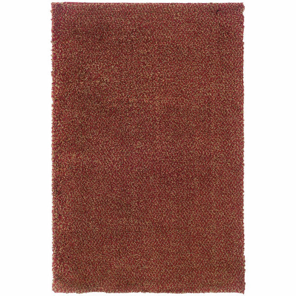 Loft Red Gold Tweed  Contemporary Rug - Free Shipping