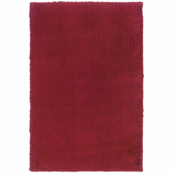 Loft Red  Solid  Contemporary Rug - Free Shipping