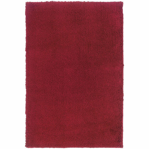 Oriental Weavers Loft Red  Solid  Contemporary Rug
