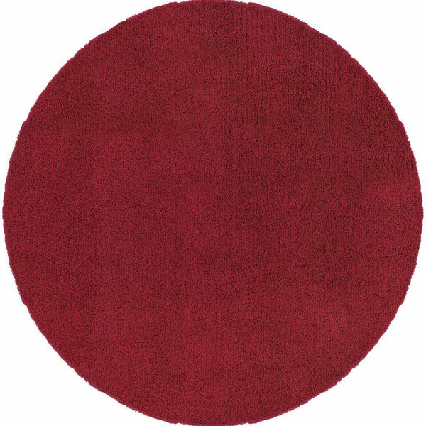 Woven - Loft Red  Solid  Contemporary Rug
