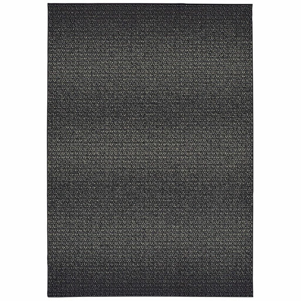 Luna Black Ivory Abstract Abstract Casual Rug - Free Shipping