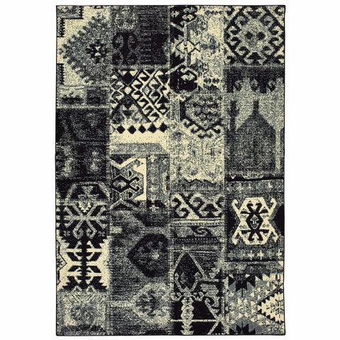 Oriental Weavers Luna Black Ivory Geometric Tribal Casual Rug