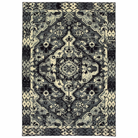 Oriental Weavers Luna Black Ivory Southwest/Lodge Tribal Casual Rug