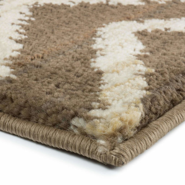 Woven - Marrakesh Brown Ivory Tribal Chevron Transitional Rug
