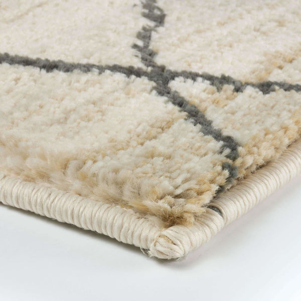Woven - Marrakesh Ivory Brown Tribal  Transitional Rug