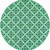 Woven - Meridian Blue Green Floral  Outdoor Rug