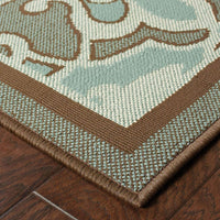 Woven - Montego Blue Brown Oriental Persian Outdoor Rug