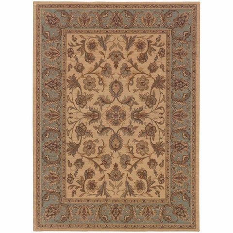 Oriental Weavers Nadira Beige Blue Oriental Persian Traditional Rug