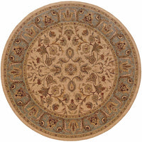 Woven - Nadira Beige Blue Oriental Persian Traditional Rug